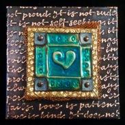 4 x 4 Heart Plaques