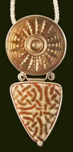 Button Enamel Pendant